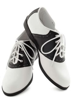 finest selection 0757d d8663 Who Could Be Saddle Shoes by Pinup Couture - Casual, Black, White, Vintage…