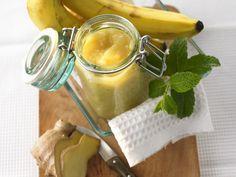 Ingwer-Bananen-Marmelade | Zeit: 10 Min. | http://eatsmarter.de/rezepte/ingwer-bananen-marmelade
