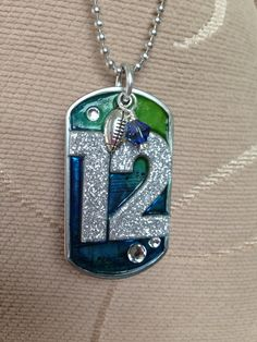 12th Man Dogtag, sports jewelry, super bowl jewelry, seattle, seahawks, football, boom, 12th man, fan, sports gifts, nfl champions