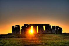 Stonehenge at sunset Stonehenge, United Kingdom
