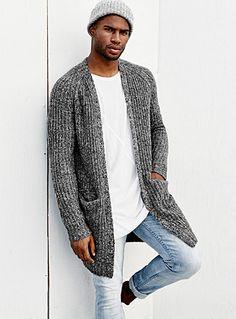 Creative Fall Style For Men Combination With Long Cardigan 39 Mens Cardigan Outfits, Mens Long Cardigan, Mens Shawl Collar Sweater, Men Sweater, Man Cardigan, Men Formal, Sharp Dressed Man, Mens Clothing Styles, Pulls