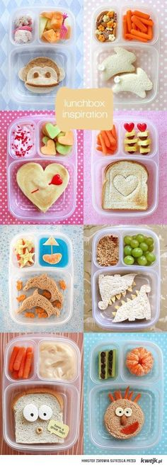 Packed lunchbox ideas! :) Wyatt would laugh at these!