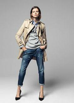 trench coat casual wear, but veto high heels Fashion Mode, Look Fashion, Winter Fashion, Fashion Brand, Mode Outfits, Casual Outfits, Fashion Outfits, Fashion Tips, Mode Style