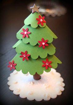 Cute paper Christmas tree