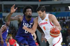 USA vs. Spain: Score and Reaction from 2016 Olympic Men-----'s Basketball------------For the third straight Olympics, the United States and Spain went head-to-head in men's basketball. The Americans came out on top 82-76, securing a spot in Sunday's gold-medal game in the 2016 Rio Games.