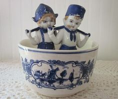vintage Delft Blue Bowl  Handpainted Made in by stellabystar, $16.00