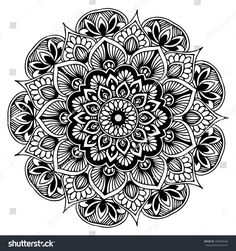 Mandalas Coloring Book Decorative Round Ornaments Stock Vector (Royalty Free) 700483648 - Mandalas for coloring book. Mandala Design, Mandala Pattern, Mandala Doodle, Lotus Mandala, Mandalas Drawing, Mandala Coloring Pages, Zentangles, Mehndi Designs, Tattoo Designs
