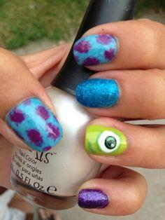 Monster Inc. Nail Art