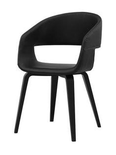 Nova chair, black/black – Dining chairs - ID Design Interieurs - Dining room