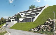 STOMEO Architektur Visualisierung - Zürich Luxury Homes, Mansions, House Styles, 3d, Home Decor, Environment, Terrace, Architecture Visualization, House