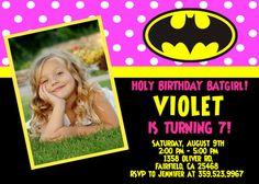 Batman Batgirl Birthday Party Invitation  by FantasticInvitation, $8.99