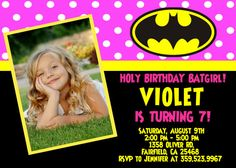 Batman Batgirl Birthday Party Invitation  by FantasticInvitation, $8.99