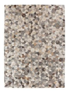 Natural Hide Hand-Stitched Rug by Exquisite Rugs at Gilt Floor Texture, Tiles Texture, Marble Mosaic, Mosaic Tiles, Floor Patterns, Fabric Patterns, Rugs On Carpet, Carpets, Millefiori Quilts