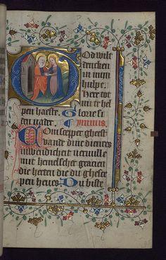 Illuminated manuscript, Book of Hours in Dutch, Visitation, Walters Manuscript W.188, fol. 96r