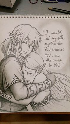 I'm not a zelink shipper in botw at least but this art is so pretty