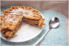 Ama in bucatarie: Waffe cu cocos French Toast, Deserts, Breakfast, Food, Morning Coffee, Essen, Postres, Meals, Dessert