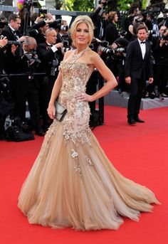 Israeli model Hofit Golan in ballgown by Jean Fares Couture