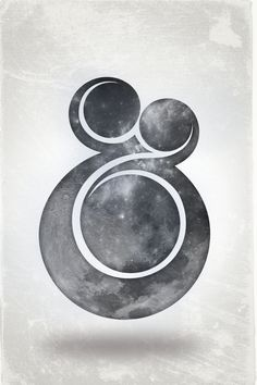 This ampersand is so beautiful I could cry. It looks like a family...and it has the moon.  // by Patrick Broom