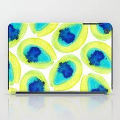 Electric Avocados  iPad Case #ipadcase #ipad #avocados #design #yellow#green #fruit #decor #pattern #home #society6 #artist