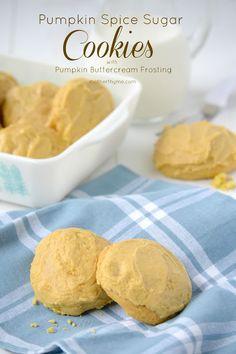Pumpkin Spice Sugar Cookies with Pumpkin Buttercream Frosting from @Jennifer   Mother Thyme