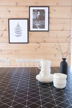 talo markki-mustavalkoinen vahakangas-jysk Finland, Traditional, Contemporary, Interior Design, House, Nest Design, Home Interior Design, Home, Interior Designing