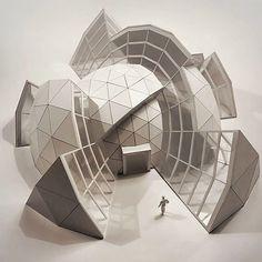 ❙ Unique model ❙ . Follow @architects__vision For more . . —————————————————————- #architectureporn#architecturestudent #maquette…