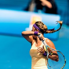 Vika always has an awesome braid in her hair :)