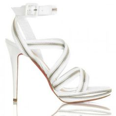 Cheap Christian Louboutin Rodita Zip Platform Sandals White - Louboutin Sandals