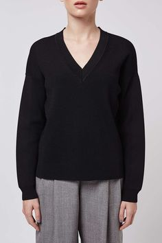 V-Neck Jumper by Boutique - Boutique - Clothing - Topshop USA
