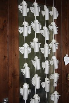 / Multitude of Angels - Advent Calendar. Angel Crafts, Xmas Crafts, Diy And Crafts, Crafts For Kids, Toilet Roll Art, Paper Towel Roll Crafts, Paper Angel, Pink Candles, Christmas Tree Decorations