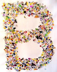 Use a hole punch and then make confetti letters
