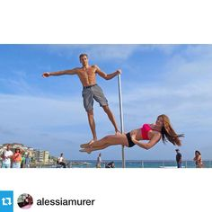 Doubles fun! Repost from @alessiamurer  Thank you Bondi for this present! ♡ #bondi #bondipole #pole