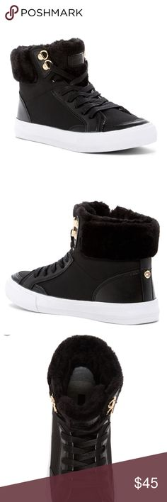 Tommy Hilfiger Faux Fur High Top Sneakers Size 9 New, ladies Tommy Hilfiger Faux fur High Top sneakers size 9 Tommy Hilfiger Shoes