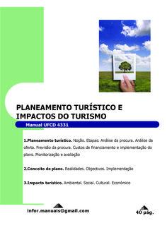4331. Planeamento turístico e impactos do turismo