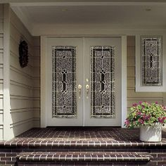 Double French Doors Double French Doors, Entry Doors, Front Doors,  Entryway, Autumn