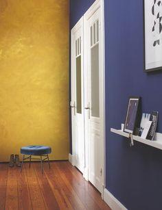 Effektfarbe, kreativ Wandfarbe Gold: Alpina Farbrezepte GOLD-EFFEKT