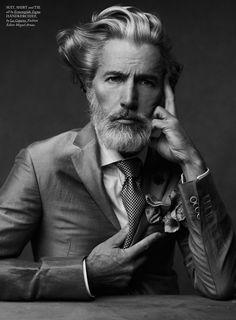 this man, silver foxes, men fashion, beard, pocket squares