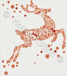 Reindeer modern cross stitch kit or pattern | Yiotas XStitch