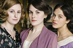 Downton Abbey - Lady Mary Crawley with Lady Edith Crawley and Lady Sybil Crawley