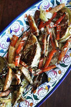 Roasted Vegetables with Tahini, Lemon & Za'atar