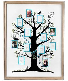 family tree wall art picture frame, photo holder uncommongoods