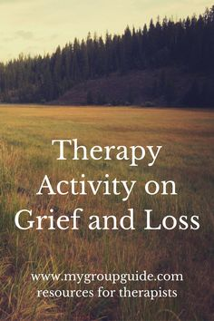 """Free therapy resources for mental health professionals: therapy activity that allows your group members to explore their grief & the """"secondary"""" losses they face. Grief Activities, Group Therapy Activities, Kids Therapy, Therapy Worksheets, Senior Activities, Counseling Activities, Therapy Tools, Free Therapy, Therapy Ideas"""