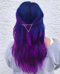 Blue and Purple Hair Color Ideas #blue #purple #hair #colors
