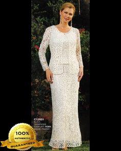 Soulmates C12551 Crochet Beaded Silk Lace Ankle Length 3 pc Jacket Dress - Mother of the Wedding