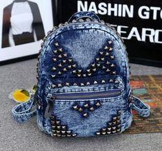 2015 Hot Sale!!!  new personalized fashion institute wind drawstring shoulder bag denim backpack student backpack postmark bag