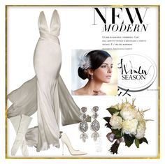 """""""30s Chic Bride"""" by dezaval ❤ liked on Polyvore featuring Jimmy Choo, Carolina Herrera, H&M and wedding"""