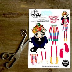 Little Frida's Dream Articulated Paper Doll by LittleFridasDream
