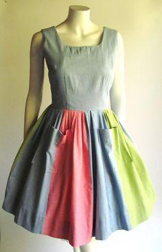 Kleider Kleid Xs-s Sommerkleid Rosen 50er Rockabilly True Vintage 50s Rose Print Dress