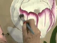Estudio de los pétalos de una flor pintura multicarga. La anémona. - YouTube