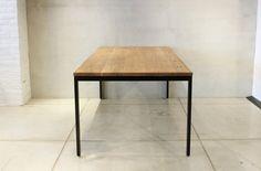 ダイニングテーブル01B 無垢材とアイアンのセミオーダー家具 CODESTYLE